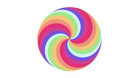 Spiral shape rainbow colors circle eamless loop rotation animation background new quality universal motion dynamic. Spiral shape colors seamless loop rotation stock video footage