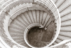 Spiral-shaped overpass Royalty Free Stock Images