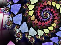 Spiral shield fractal Royalty Free Stock Photos
