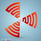 Spiral signal info Royalty Free Stock Photography