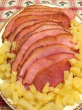 Spiral Sliced Ham Royalty Free Stock Image