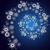 Spiral snöig bakgrund Royaltyfri Foto