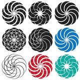 Spiral snail decorative symbol Royalty Free Stock Photos