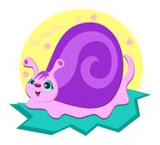 Spiral Snail with Flower Background Royalty Free Stock Photo