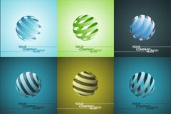Spiral Sphere Abstract Lines Illustration Royalty Free Stock Images