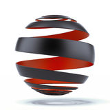 Spiral sphere Royalty Free Stock Photography