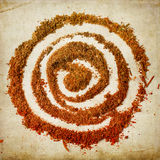 Spiral of spices Royalty Free Stock Photo