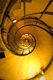 Spiral Stair. Inside the Triomphe arch in Paris Stock Photo