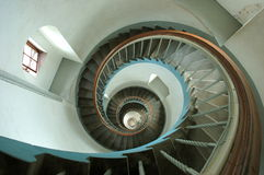 Spiral Stair. Twisted stair in a lighthouse/denmark royalty free stock photos