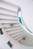 Spiral stair. Angle of elevation Spiral stair stock images