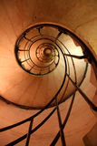 Spiral Stair Case. Looking up to the top of the Arc de triomphe Stock Photos