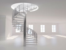 Spiral stair 3D rendering Royalty Free Stock Photography