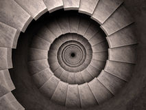 Spiral stair dungeon style. Royalty Free Stock Photography