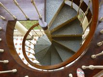 Spiral stair. Flying step case Royalty Free Stock Images