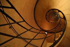 Spiral stair inside Arc De Triomphe Stock Image