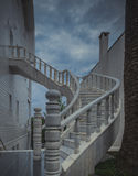 Spiral stair inside house Royalty Free Stock Images