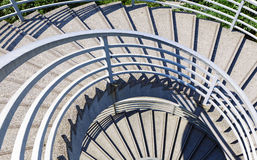 Spiral stair outdoor Royalty Free Stock Images
