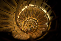 Spiral stair Paris. Spiral Stair inside of the Arc de Triomphe in Paris Royalty Free Stock Photo