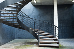 Spiral stair. In  a parking Stock Photos