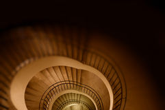 Spiral stair to the infinity. Stairs going down to hell (Conceptual photography can be used as abstract background for printing and web Royalty Free Stock Photography