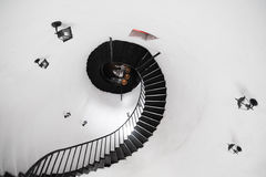 Spiral stair to the infinity Stock Images