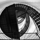 Spiral stair to the top of hunting island lighthouse Stock Image