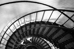 Spiral stair to the top of hunting island lighthouse Stock Photo