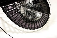 Spiral stair to the top of hunting island lighthouse Royalty Free Stock Photos