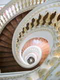 Spiral stair. Top view of spiral stair stock images