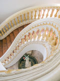 Spiral stair. Top view of spiral stair royalty free stock photo