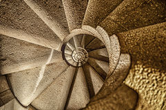 Spiral Stairacase In Barcelona Stock Image