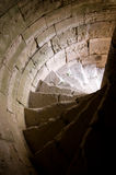 Spiral Staircase. Stone spiral staircase at Krak des Chevaliers, crusader castle, Syria stock photos