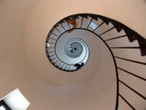 Spiral staircase. Stairs in the La Paloma Lighthouse, in the City of La Paloma, Uruguay Stock Images