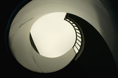 Spiral Staircase. Look up a modern spiral Staircase Royalty Free Stock Image