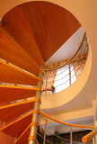 Spiral staircase. Looking up at spiral staircase Stock Images