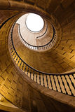 Spiral staircase. Triple spiral staircase at the Museo do Pobo Galego, Spain royalty free stock photos
