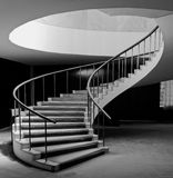 Spiral Staircase. A very elegant indoor spiral staircase. It is spiral shaped and have harmonic curves stock photo