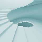 Spiral Staircase. 3d Illustration of Blue Spiral Staircase Background Royalty Free Stock Photos