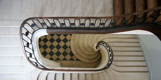 Spiral staircase. In France looking down Stock Photo