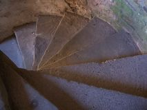 Spiral staircase 2. A spiral staircase in a castle Stock Images