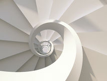 Spiral staircase. White abstract spiral staircase. 3d-illustration Stock Photo