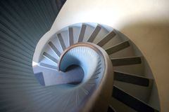 Spiral Staircase. The view from the top of the spiral staircase at the Point Loma Lighthouse in San Diego, California, USA stock image