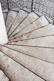 Spiral staircase. Close-up of steps of the spiral staircase Stock Photography