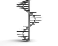 Spiral Staircase. Computer generated image Royalty Free Stock Photo