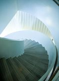 Spiral staircase. Upside view of a spiral staircase stock photography
