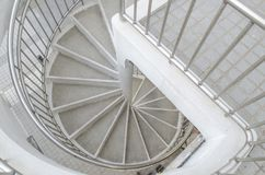 Spiral staircase. In Hong Kong City Hall, Central District Royalty Free Stock Photos