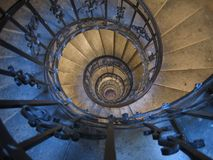 Spiral staircase. Old spiral staircase in a cathedral royalty free stock images