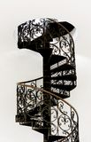 Spiral staircase. Isolated on a white background Royalty Free Stock Images