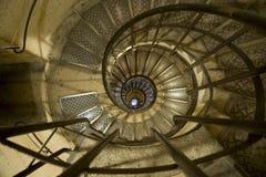 Spiral staircase. In the Arc de Triomphe Paris Stock Photo