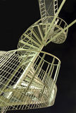 Spiral staircase. Against the black evening sky Stock Photography
